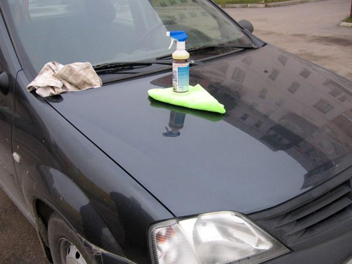 Чем отмыть смолу дерева с машины